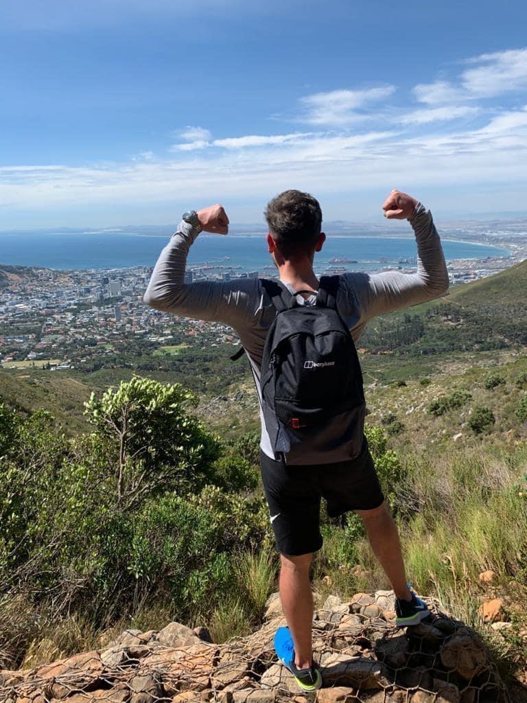 Climbing Table Mountain, South Africa
