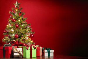 Christmas gifts and tree